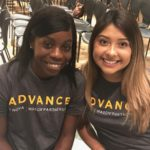 Two new ADVANCE students at ADVANCE open house event on August 30, 2018.